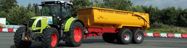 Moderne tractoren trekkerrijbewijs